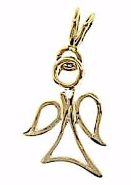 Imagen de Ángel estilizado Colgante gr 1,65 Oro amarillo 18kt para Niño y Niña