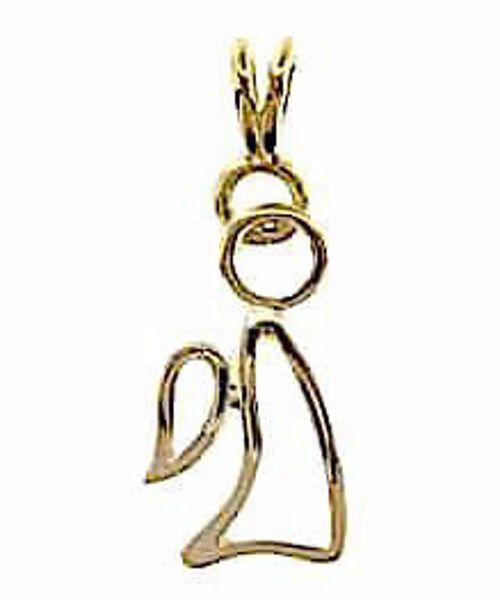 Imagen de Ángel estilizado Colgante gr 1,1 Oro amarillo 18kt para Niño y Niña