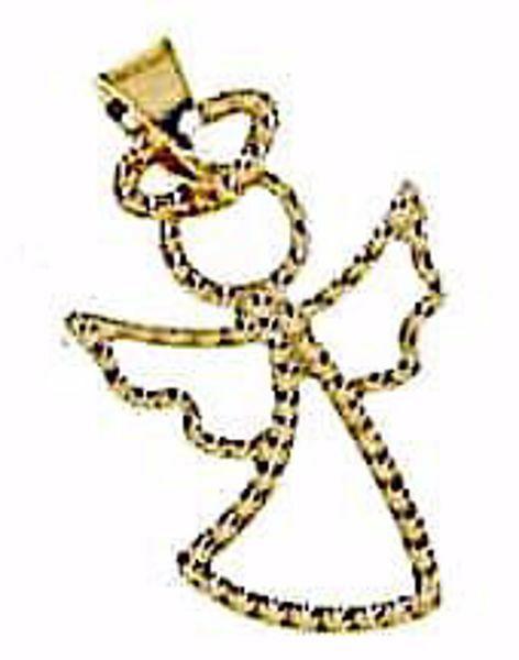Imagen de Ángel de la Guarda estilizado Colgante gr 0,4 Oro amarillo 18kt para Niño y Niña