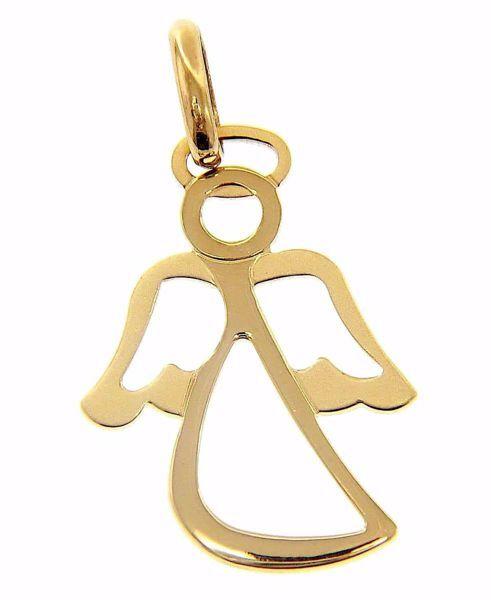 Imagen de Ángel de la Guarda estilizado Colgante gr 1,55 Oro amarillo 18kt para Niño y Niña