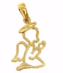 Picture of Stylized Guardian Angel praying Pendant gr 1,2 Yellow Gold 18k for Children (Boys and Girls)