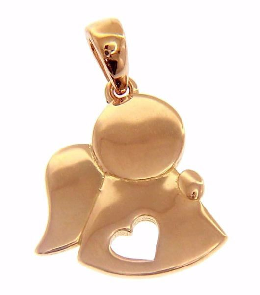 Picture of Angel with Heart Pendant gr 1,6 Rose Gold 18k for Children (Boys and Girls)