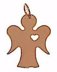 Picture of Guardian Angel with Heart Pendant gr 1 Rose Gold 18k for Children (Boys and Girls)