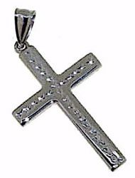 Picture of Cross with thorns Pendant gr 1,5 White Gold 18k Hollow Tube for Man