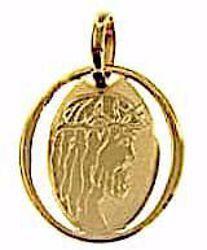 Immagine di Sacro Volto di Gesù Cristo Medaglia Sacra Pendente ovale gr 0,7 Oro giallo 18kt Unisex Donna Uomo