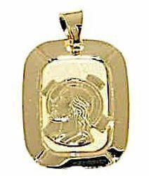 Imagen de Cristo Jesús con Aureola Medalla Sagrada Colgante rectangular gr 1,45 Oro amarillo 18kt Unisex Mujer Hombre