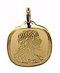 Picture of Holy Face of Jesus Sacred Square Medal Pendant gr 1 Yellow Gold 18k Unisex Woman Man