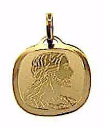 Immagine di Sacro Volto di Gesù Medaglia Sacra Pendente quadrata gr 1 Oro giallo 18kt Unisex Donna Uomo