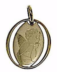 Picture of Angel of Raphael Oval Medal Pendant gr 0,6 Yellow Gold 9k for Woman, Boy and Girl