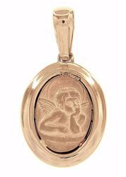 Picture of Angel of Raphael Sacred Oval Medal Pendant gr 2,9 Yellow Gold 18k for Woman, Boy and Girl