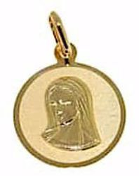 Picture of Our Lady Virgin Mary Sacred Medal Round Pendant gr 0,85 Yellow Gold 18k for Woman