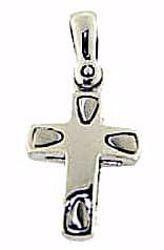 Immagine di Croce design stile moderno Ciondolo Pendente gr 2,1 Oro bianco massiccio 18kt Unisex Donna Uomo