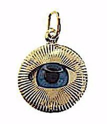 Picture of Eye of Allah Round Pendant gr 0,9 Yellow Gold 18k Unisex Woman Man