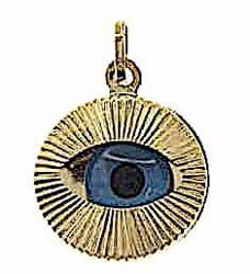Picture of Eye of Allah Round Pendant gr 1,2 Yellow Gold 18k Unisex Woman Man