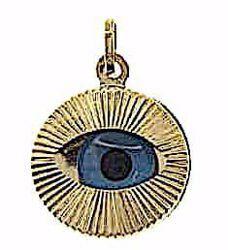 Immagine di Occhio di Allah Ciondolo Pendente tondo gr 1,2 Oro giallo 18kt Unisex Donna Uomo
