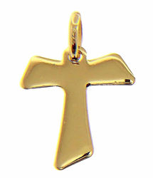 Picture of Saint Francis Tau Cross Pendant gr 1,05 Yellow Gold 18k relief printed plate Unisex Woman Man