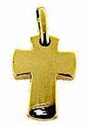 Immagine di Croce bombata liscia Ciondolo Pendente gr 1,9 Oro giallo massiccio 18kt Unisex Donna Uomo