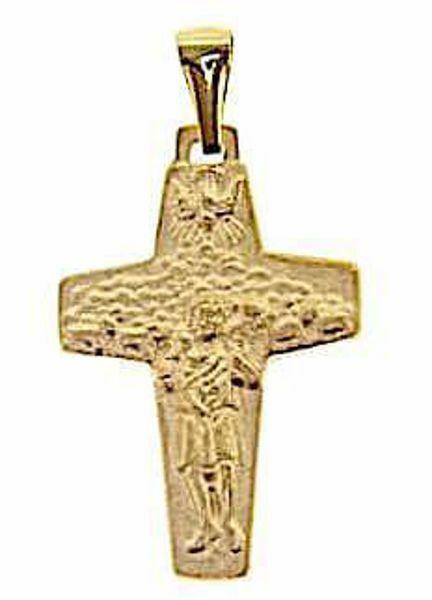Imagen de Cruz del Buen Pastor del Papa Francisco Colgante gr 2,6 Oro amarillo macizo 18kt Unisex Mujer Hombre