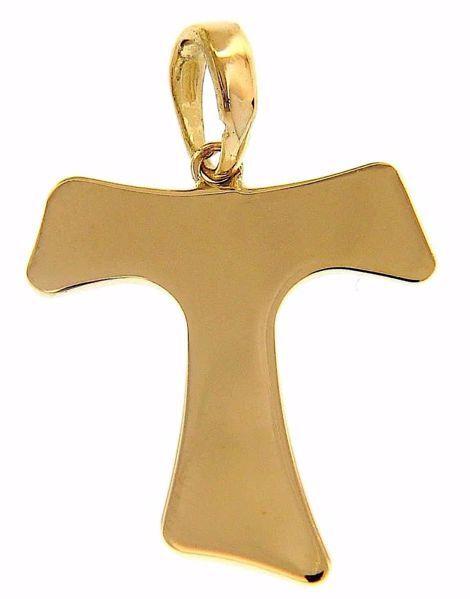 Imagen de Cruz Tau de San Francisco Colgante gr 1,5 Oro amarillo 18kt Tubo hueco Unisex Mujer Hombre