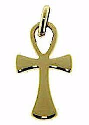 Picture of Cross of Life Ankh Crux Ansata Pendant gr 1,1 Yellow Gold 9k Unisex Woman Man
