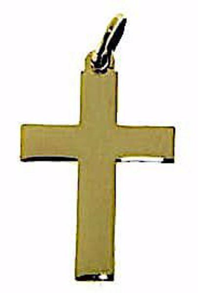 Imagen de Cruz recta lisa Colgante gr 0,75 Oro amarillo 9kt Unisex Mujer Hombre