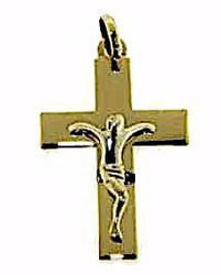 Picture of Straight Cross with Body of Christ Pendant gr 1,05 Yellow Gold 9k Unisex Woman Man