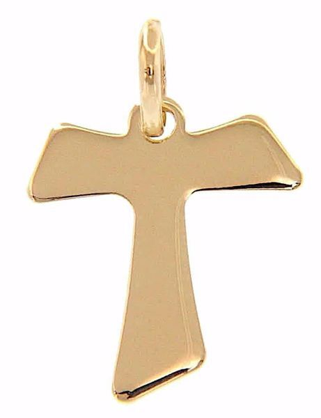 Picture of Saint Francis Tau Cross Pendant gr 0,8 Yellow Gold 9k Unisex Woman Man