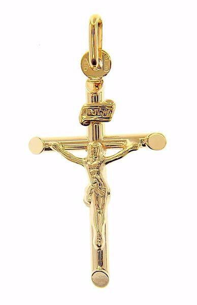 Imagen de Cruz con Cuerpo de Cristo y INRI Colgante gr 1 Oro amarillo 9kt Unisex Mujer Hombre