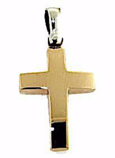 Picture of Simple Straight Cross Pendant gr 2,7 Rose solid Gold 18k Unisex Woman Man