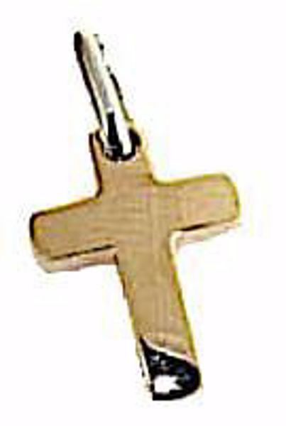 Picture of Smooth Simple Cross Pendant gr 1,5 Rose solid Gold 18k Unisex Woman Man