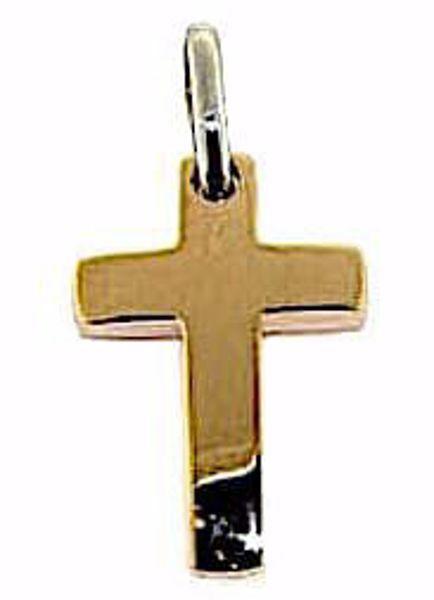 Immagine di Croce dritta semplice Ciondolo Pendente gr 1,7 Oro rosa massiccio 18kt Unisex Donna Uomo