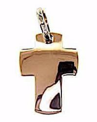 Picture of Smooth Straight Cross Pendant gr 2,2 Rose solid Gold 18k Unisex Woman Man