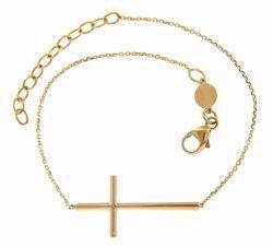 Immagine di Bracciale Moda con Croce gr 2 Oro giallo 18kt da Donna