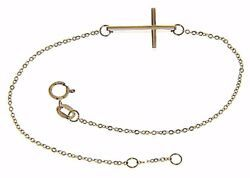 Picture of Fashion Cuff Bracelet with Straight Cross gr 1,4 Rose Gold 18k for Woman