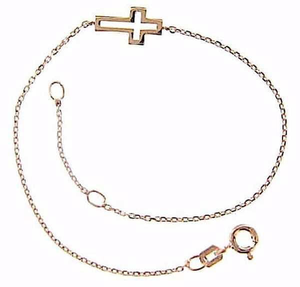 Picture of Fashion Cuff Bracelet with Cross gr 1,5 Rose Gold 18k for Woman