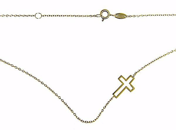 Picture of Fashion crew-neck Necklace with Cross gr 2,1 Yellow Gold 18k for Woman