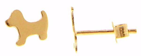 Imagen de Pendientes de Lóbulos Moda Perro gr 0,85 Oro amarillo 18kt para Mujer