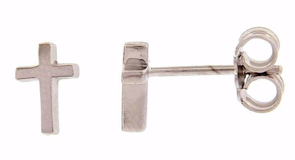 Picture of Fashion Lobe Earrings with Cross gr 1,2 White Gold 18k Unisex for Woman and Man