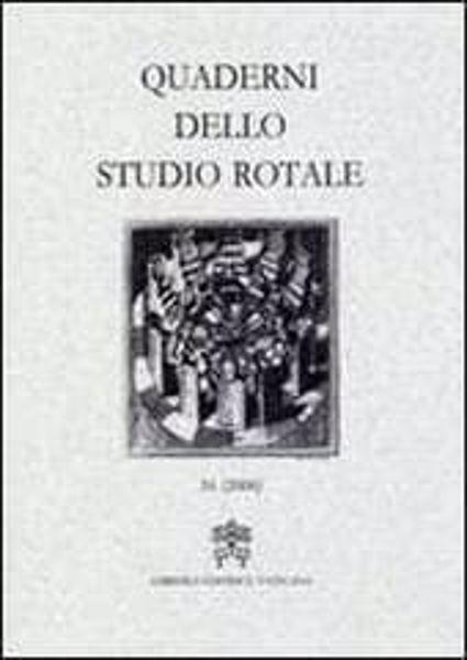 Imagen de Quaderni dello Studio Rotale, Vol. 13 (2006) Tribunale della Rota Romana