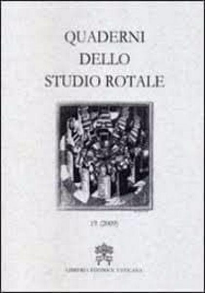 Immagine di Quaderni dello Studio Rotale, Vol. 16 (2009) Tribunale della Rota Romana