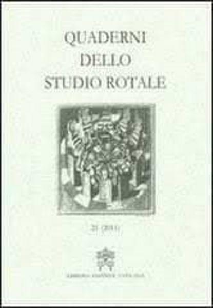 Immagine di Quaderni dello Studio Rotale, Vol. 18 (2011) Tribunale della Rota Romana