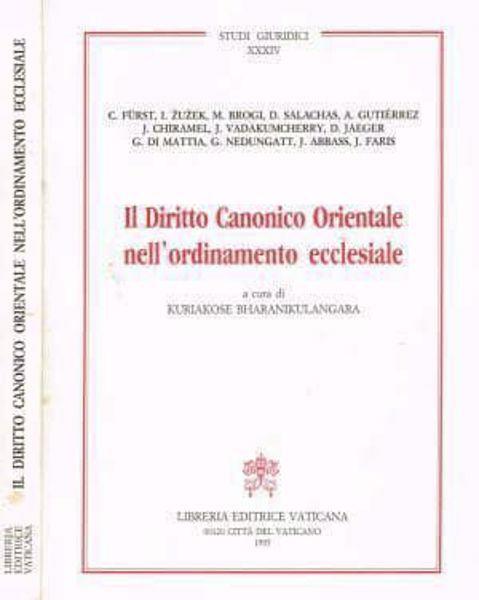 Immagine di Il diritto canonico orientale nell' ordinamento ecclesiale