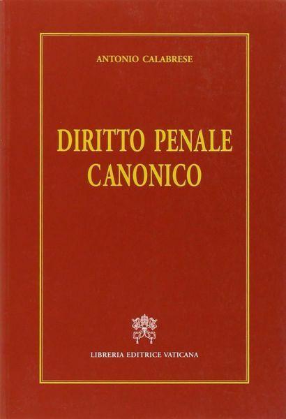 Imagen de Diritto penale canonico. Terza edizione Antonio Calabrese