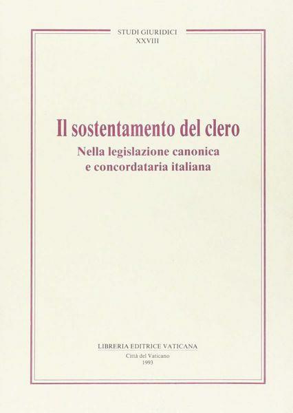 Imagen de Il sostentamento del clero nella legislazione canonica e concordataria italiana