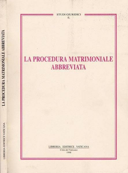Imagen de La procedura matrimoniale abbreviata