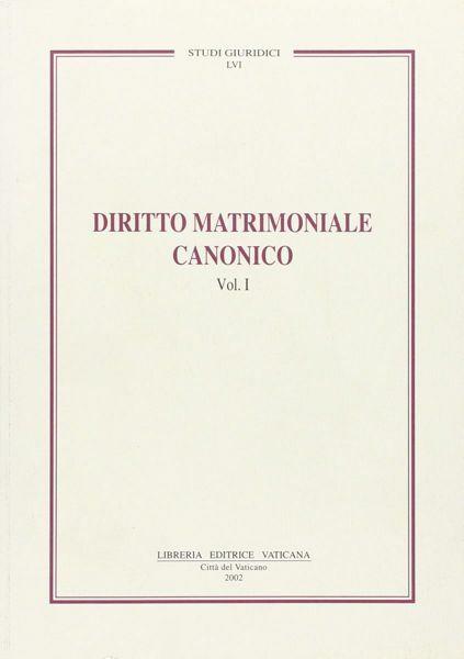 Immagine di Diritto matrimoniale canonico Volume 1