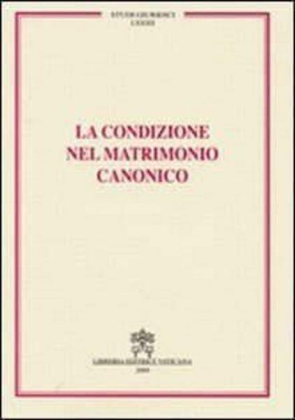 Picture of La condizione del matrimonio canonico