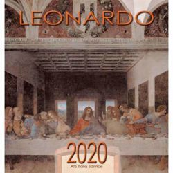 Immagine di Leonardo da Vinci (2) Calendario de pared 2020 cm 32x34 (12,6x13,4 in)