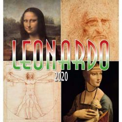 Immagine di Leonardo da Vinci (3) Calendario de pared 2020 cm 32x34 (12,6x13,4 in)