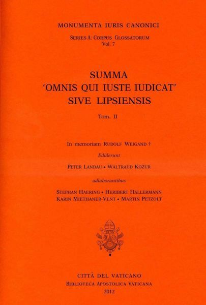 "Immagine di Summa "" Omnis qui iuste iudicat "" sive Lipsiensis Peter Landau, Waltraud Kozur, Karin Miethaner-Vent"